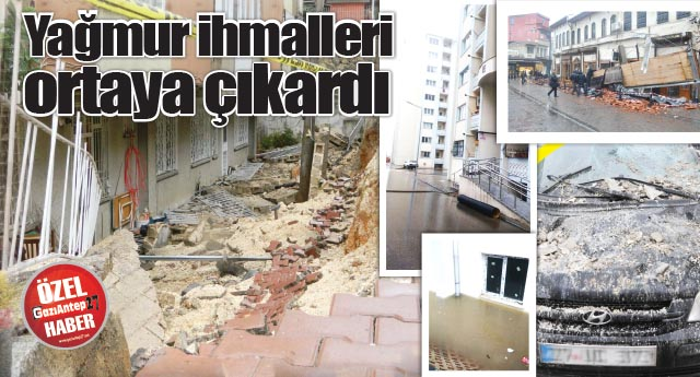 İş yerlerinin çatısı çöktü