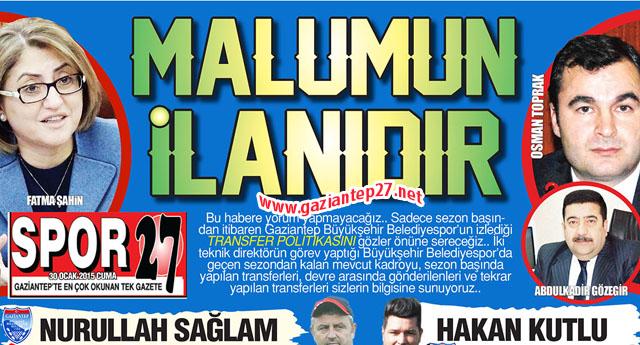 Gaziantep'te herkes Büyükşehir'i konuştu