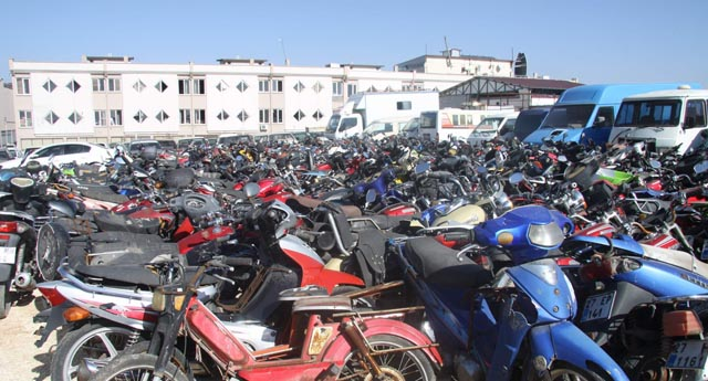 Bin 150 motosiklet geri dönüşüme gitti