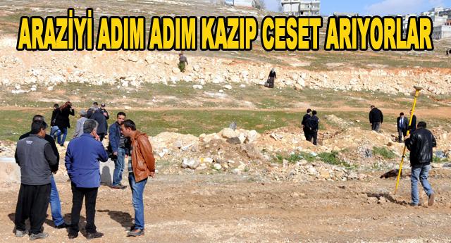'Ceset var' denilen arazide kazı çalışması başlatıldı