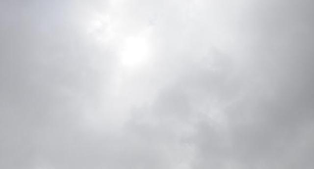 Bulutlar izin vermedi