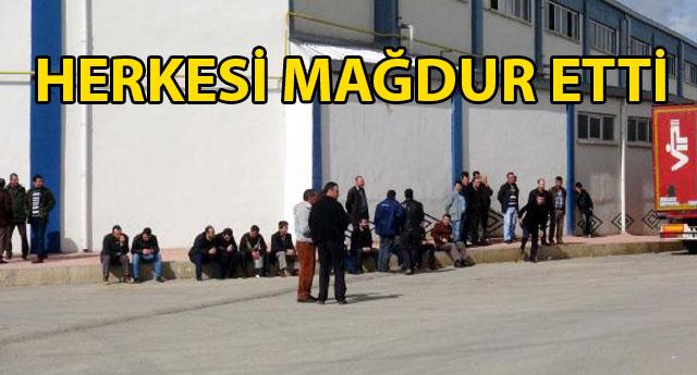 GAZİANTEP'TE ÜRETİM DURDU