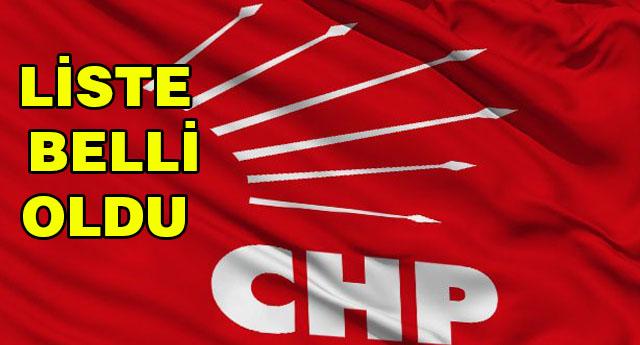 İŞTE CHP'NİN ADAY TERCİHLERİ