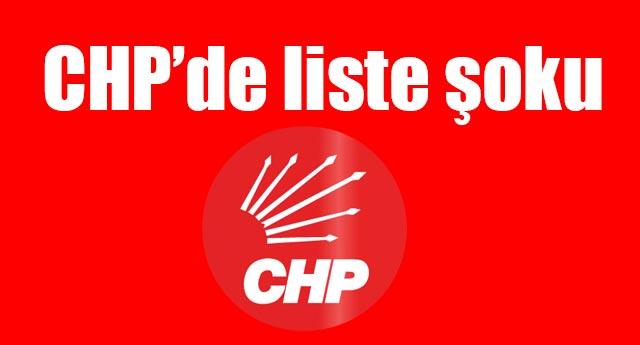 CHP'de liste tepkisi