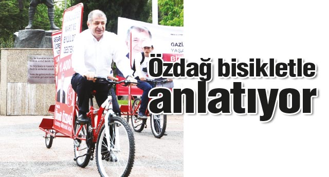 Bisikletlerle anlatıyor