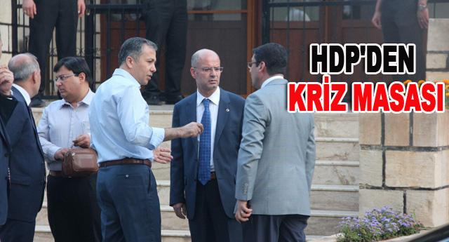 HDP'DEN KRİZ MASASI