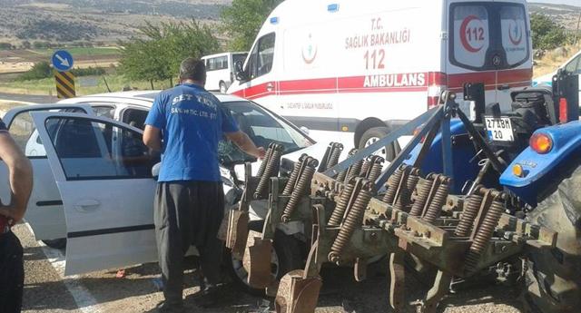 Yavuzeli'nde kaza: 1 yaralı