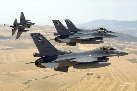 Türk jetleri PKK ve Işid'e bomba yağdırıyor