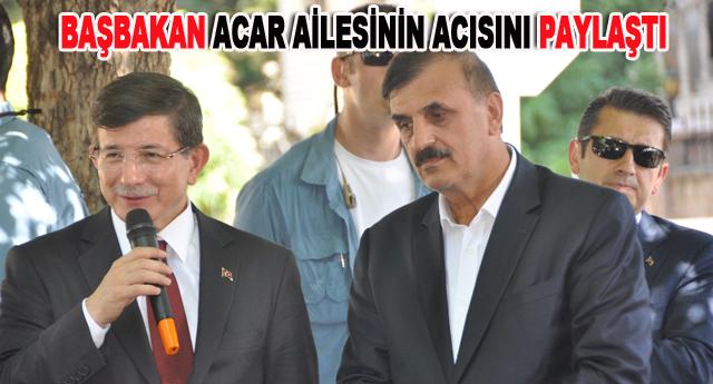 Başbakan, Selim Acar'a taziye ziyaretinde bulundu