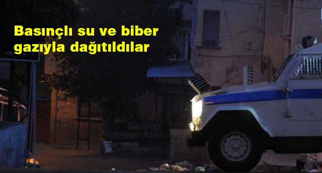 POLİSE TAŞ VE SİLAHLA SALDIRDILAR