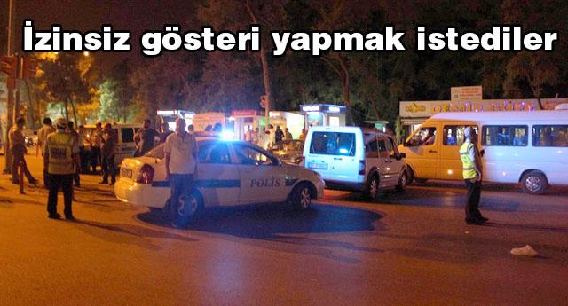 MÜDAHALE EDEN POLİSİ VURDULAR