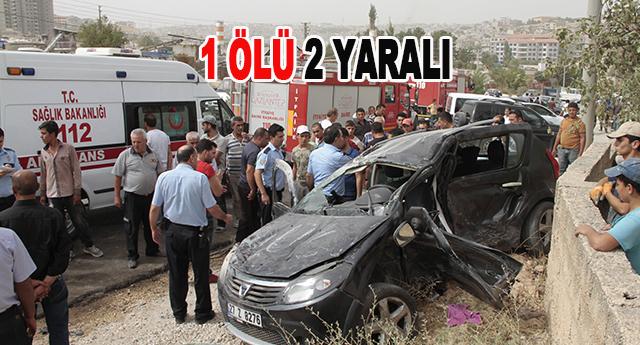 Düztepe'de hız kazası