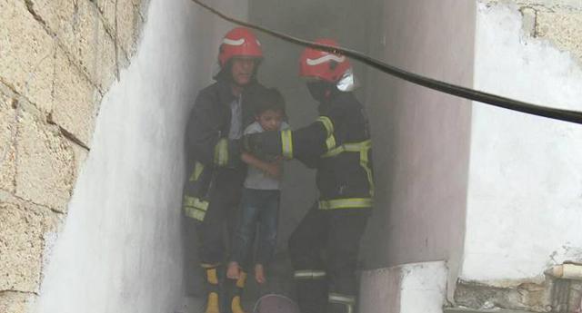 Çocukların hayatını itfaiye kurtardı