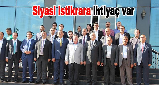 Mehmet Erdoğan istikrar dedi