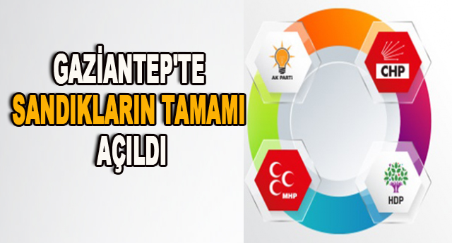 İşte Partilerin Gaziantep Milletvekili Dağılımı