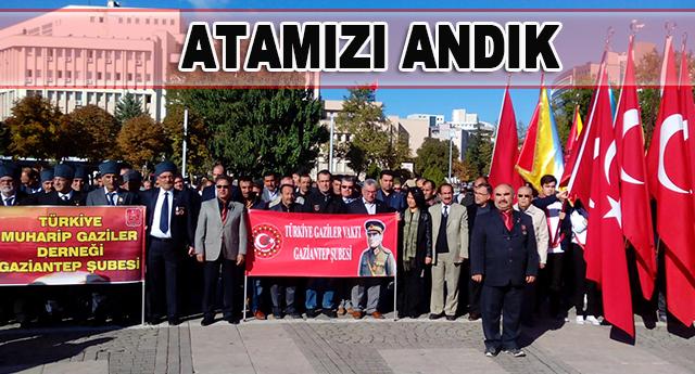 Ölümünün 77'nci yıldönümünde Gaziantep'te de törenlerle anıldı