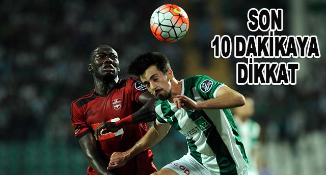 Gaziantepspor son 10 dakikada en çok gol yiyen takım oldu
