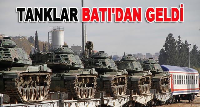 Tanklar 5. Zırhlı Tugay Komutanlığına sevk edildi