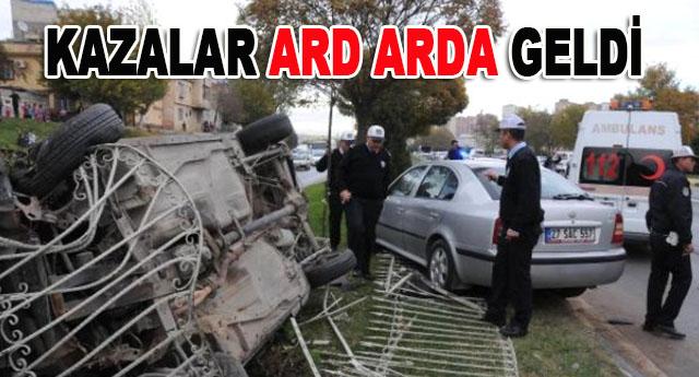 2 trafik kazasında 1'i polis 5 kişi yaralandı