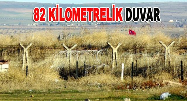 Gaziantep'te, 42, Kilis'te ise 40 kilometre duvar örülecek