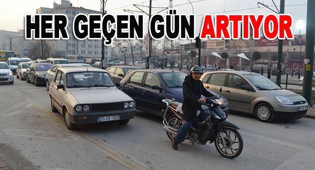Gaziantep'in araç sayısı Eylül ayına göre artış gösterdi