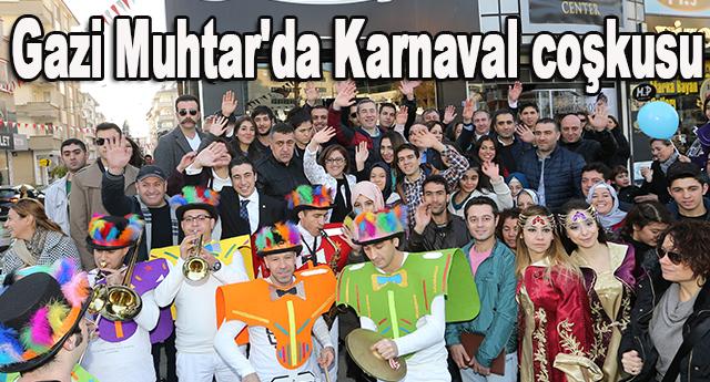 Gazi Muhtarpaşa Bulvarı'nda karnaval düzenlendi