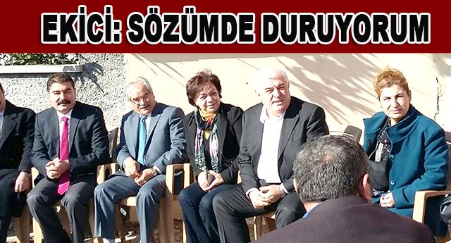 Akif Ekici, siyasette dürüstlüğe imza attığını belirtti