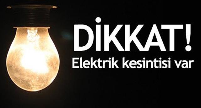 Nerelerde elektrik kesilecek?