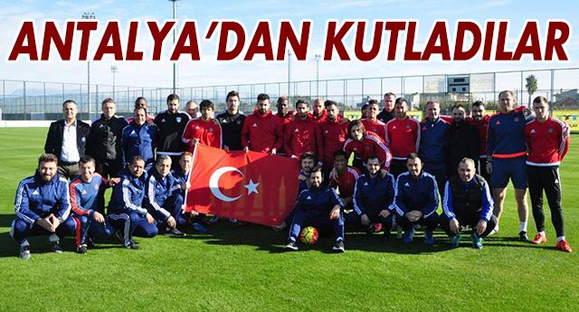 Gaziantepspor Antalya'dan Kutladı