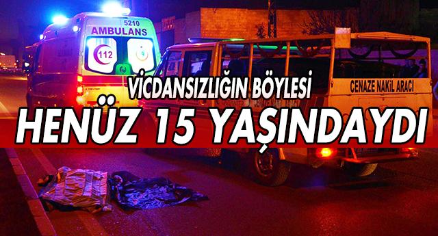 BİSİKLETLİ GENCİ 50 METRE SÜRÜKLEDİ VE KAÇTI...