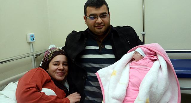 Gaziantep'te Yılın İlk Bebeği Elifsu