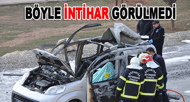 Gaziantep'te inanılmaz intihar
