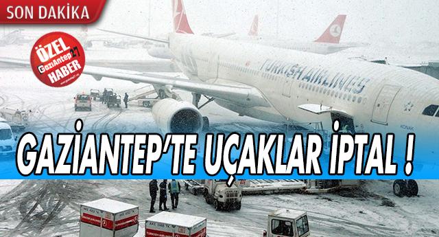 KAR UÇAKLARI İPTAL ETTİRDİ !