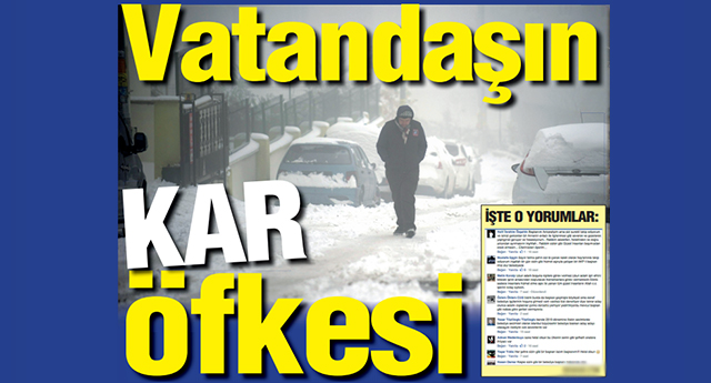 Gaziantep'liler kar mağduru oldu