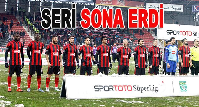 Gaziantepspor'un 6 maçlık yenilmezlik serisi sona erdi