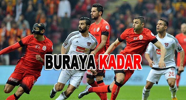 Galatasaray'a 3-1 mağlup olarak elendik