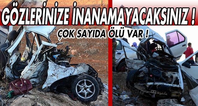GAZİANTEP'TE KATLİAM GİBİ KAZA !