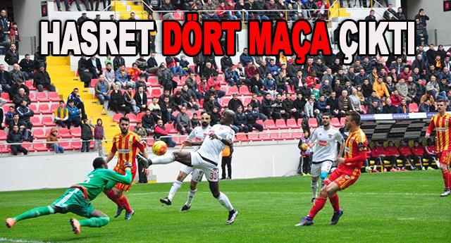 Gaziantepspor'un galibiyet hasreti devam ediyor