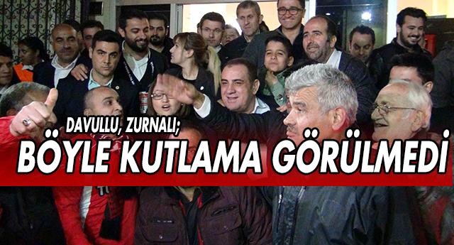 Kızıl'a davullu zurnalı kutlama
