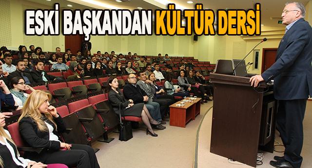 """Güzelbey, """"Kültür Şehri Gaziantep"""" konulu konferansa katıldı"""