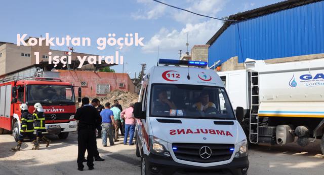 Kanalizasyon çalışmasında göçük oluştu, 1 işçi yaralandı