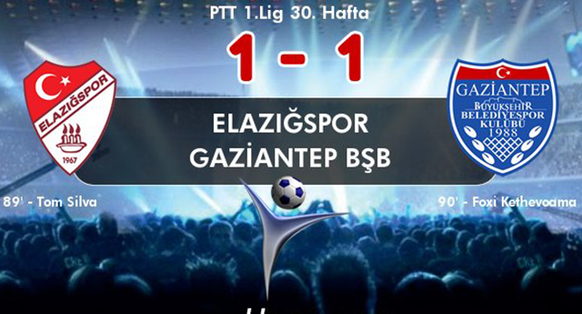 Elazığspor 1 - Gaziantep BŞB 1