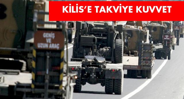 Kilis'e tank ve zırhlı araç sevkiyatı