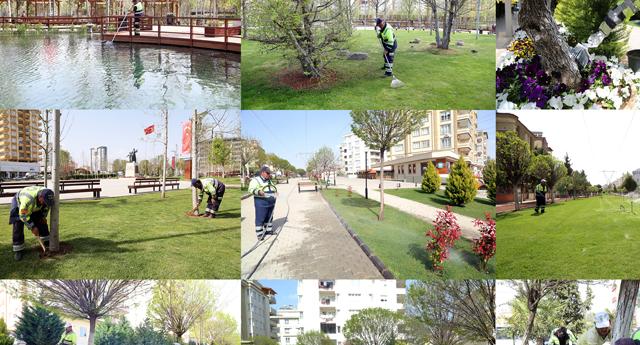 Parklara bahar geldi