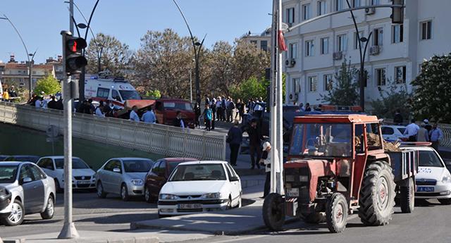 Köprüde zincirleme kaza
