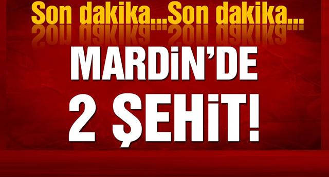 Mardin'de iki asker şehit oldu