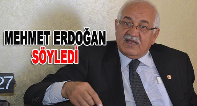 Mehmet Erdoğan, çarpıcı bilgiler verdi
