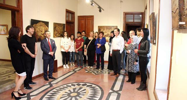 Ünsal'ın resim sergisi açıldı