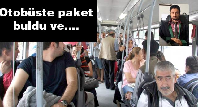 Otobüste size ait olmayan paketlere dokunmayın