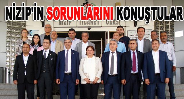 CHP Nizip Ticaret Odası Yönetim Kurulu'nu ziyaret etti